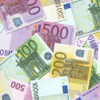 Stock Photo: 100,200,500 Euro Notes Texture