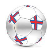 Soccer Ball/Football Faroe Islands — Stock Photo