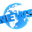Royalty-Free Stock Photo: News Around the World - Glossy Blue