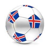 Soccer Ball/Football Iceland — Стоковое фото