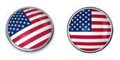 Banner botón estados unidos — Foto de Stock