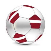 Soccer Ball/Football Latvia — Stockfoto