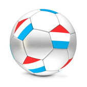 Soccer Ball/Football Luxembourg — Stock Photo