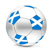 Soccer Ball/Football Scotland — Stock Photo