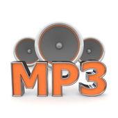 Speakers MP3 - Orange — Stock Photo