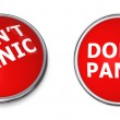 Red Don't Panic Button — Stock Photo #4089833