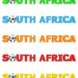Royalty-Free Stock Photo: Football South Africa - Five Colours