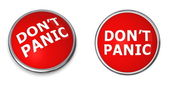 Red Don't Panic Button — Stock Photo