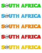 Football South Africa - Five Colours — Stock Photo