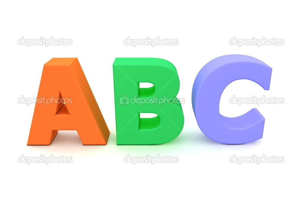 colourful letters abc stock image
