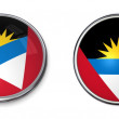 Stock Photo: Banner Button AntiguAnd Barbuda