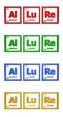 Chemical Symbol Word Allure — Stock Photo