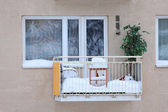 Balcony Covered with Snow — Stock Photo