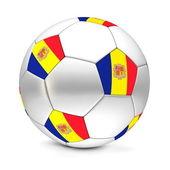Soccer Ball/Football Andorra — Photo