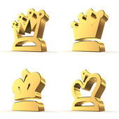 Four Royal Crowns - Gold — Stock Photo
