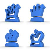 Four Royal Crowns - Royal Blue — 图库照片