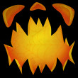 Jack O Lantern dark face textured — Stock Photo #3929134