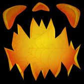 Jack O Lantern dark face textured — Stock Photo