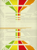 Beige lined retro background eps 10 — Stock Vector