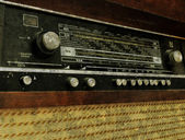 Grunge old radio panel — Stock Photo