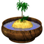 Island in bowl — Stock Photo