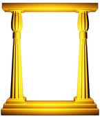 Cornice di colonne d'oro egitto — Foto Stock
