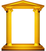 Ionic gold frame — Stock Photo