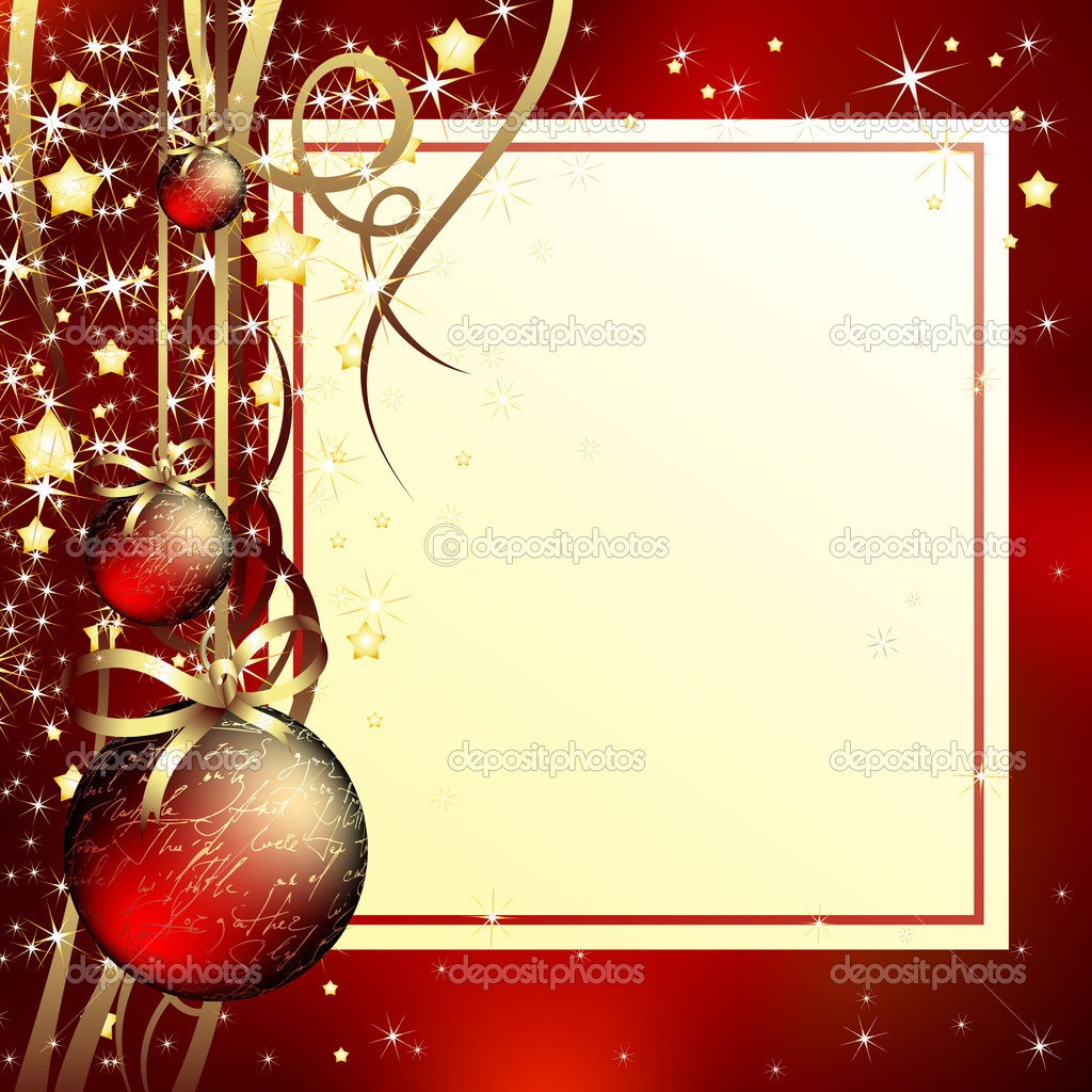 Christmas background,  this illustration may be useful as designer work — Stock Vector #3956218