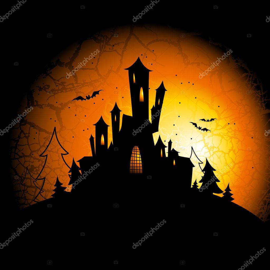 Halloween, this illustration may be useful as designer work — Stockvectorbeeld #4012884