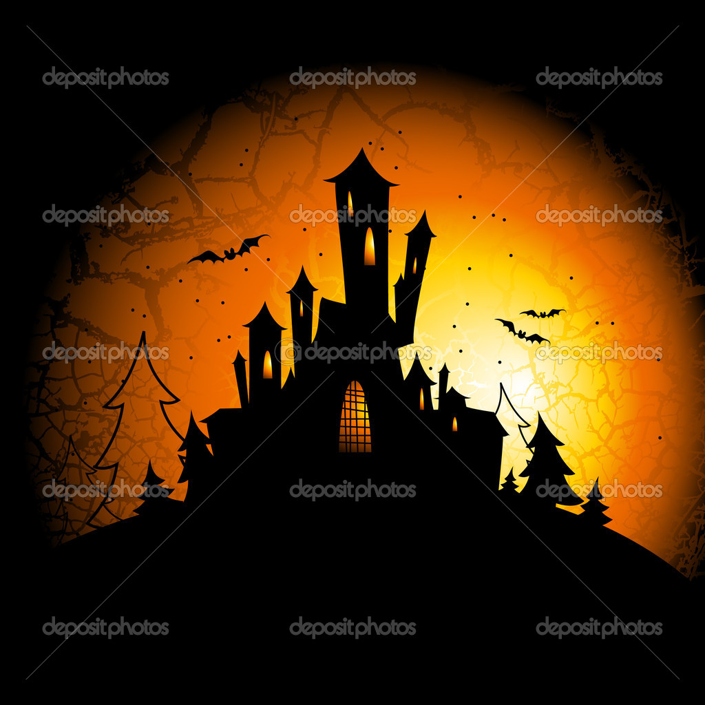 Halloween, this illustration may be useful as designer work — Imagens vectoriais em stock #4012884