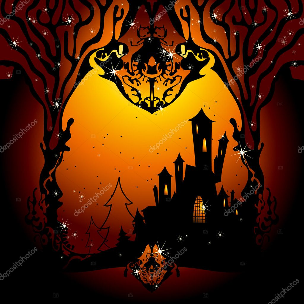 Halloween, this illustration may be useful as designer work — Stock Vector #4012900