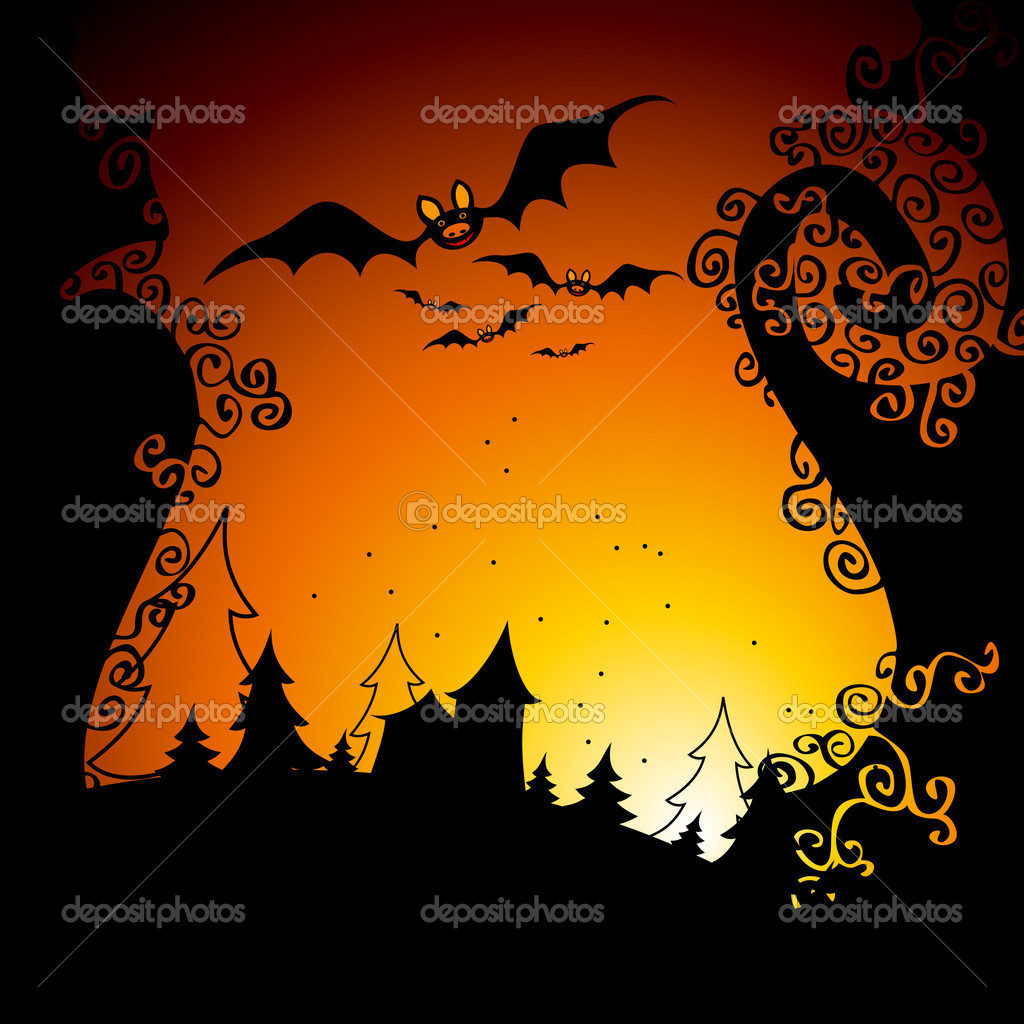 Halloween, this illustration may be useful as designer work  Stock Vector #4012908