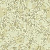 Textura floral sem costura — Vetor de Stock
