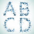 Alphabet water drop ABCD - Stock Vector