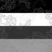 Banner black-white — Stock Vector