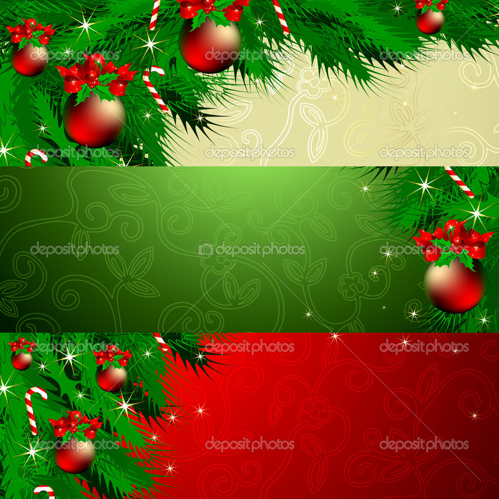 Christmas banner, this illustration may be useful as designer work — Stock Vector #4373170