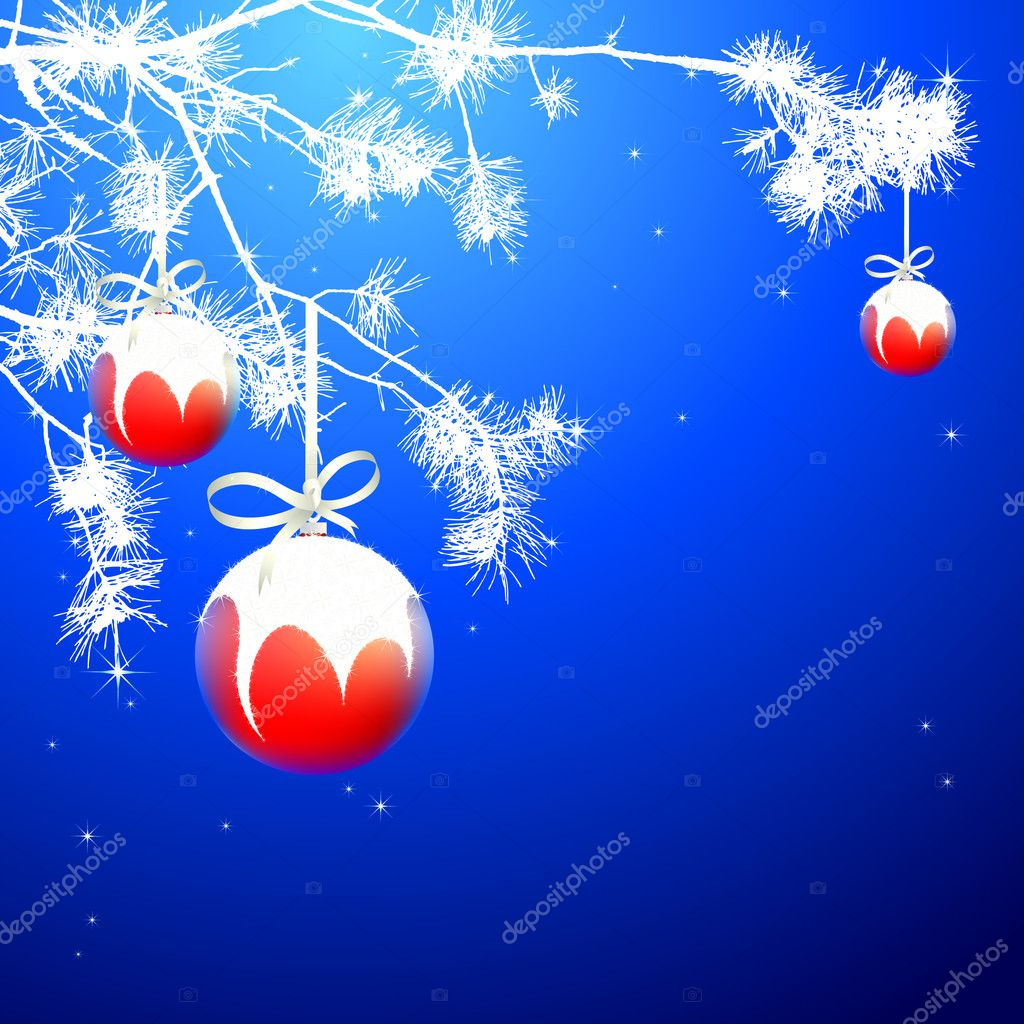Christmas background, this illustration may be useful as designer work  Stock Vector #4373319