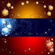 Christmas banner — Vector de stock  #4430430