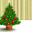 Christmas fir — Vettoriali Stock
