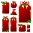 Royalty-Free Stock Vector Image: Set of red tags
