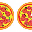 Stock Vector: Pizzas