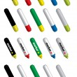 Markers set — Stock Vector
