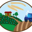 Stock Vector: Harvesting