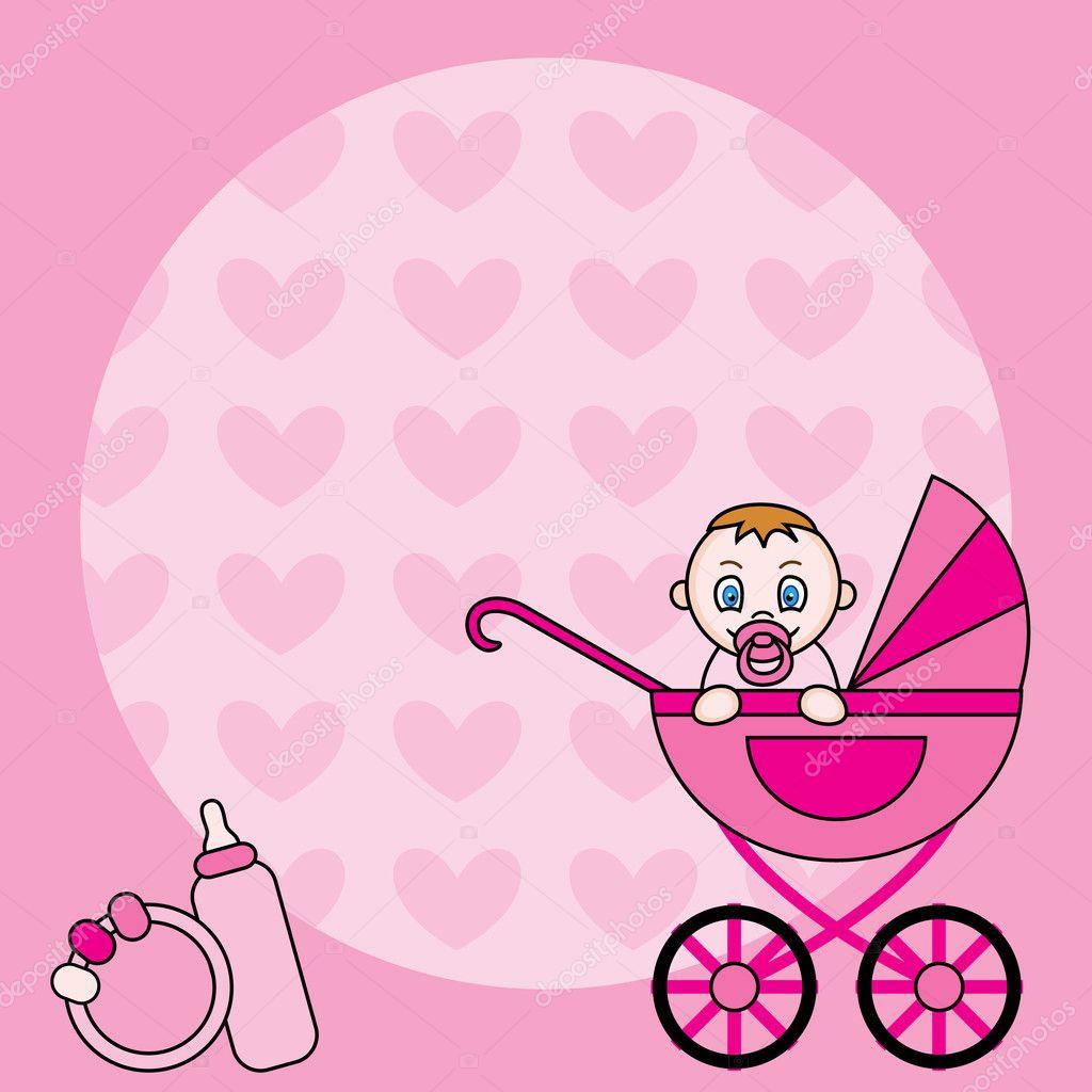 Baby girl announcement Vector Natkah 5141743 – Announcement of Baby Girl