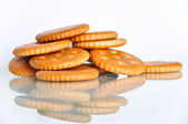 Group of crackers cookies isolated — Stock Photo