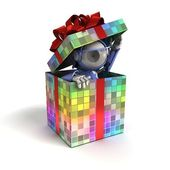 Robot as a gift — Stock Photo