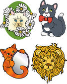 Cartoon cats — Vector de stock