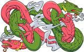 Two dragons dancing — Stock Vector