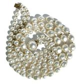 Vintage paste pearls — Stock Photo