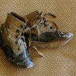 Stock Photo: Antique baby shoes, WWI era
